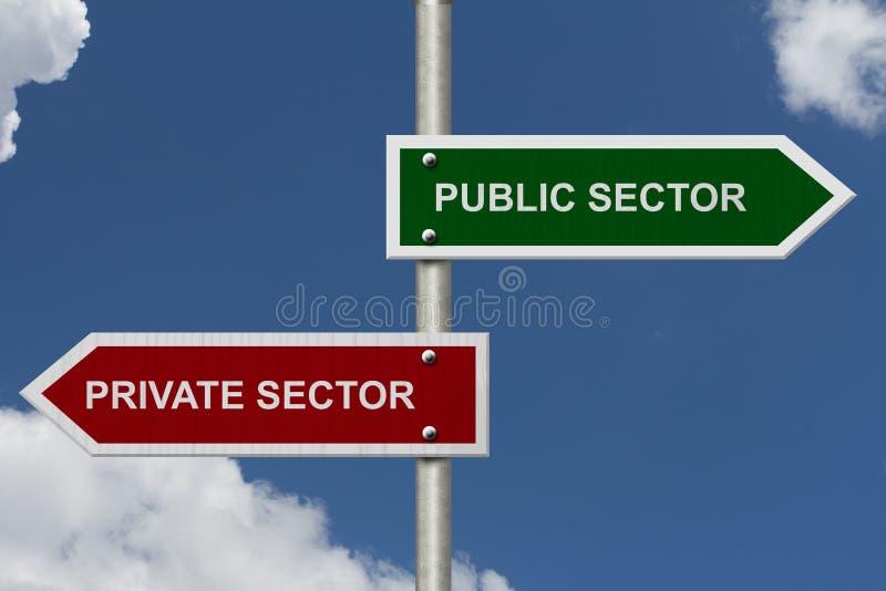 国营部门对私人部门 免版税库存照片