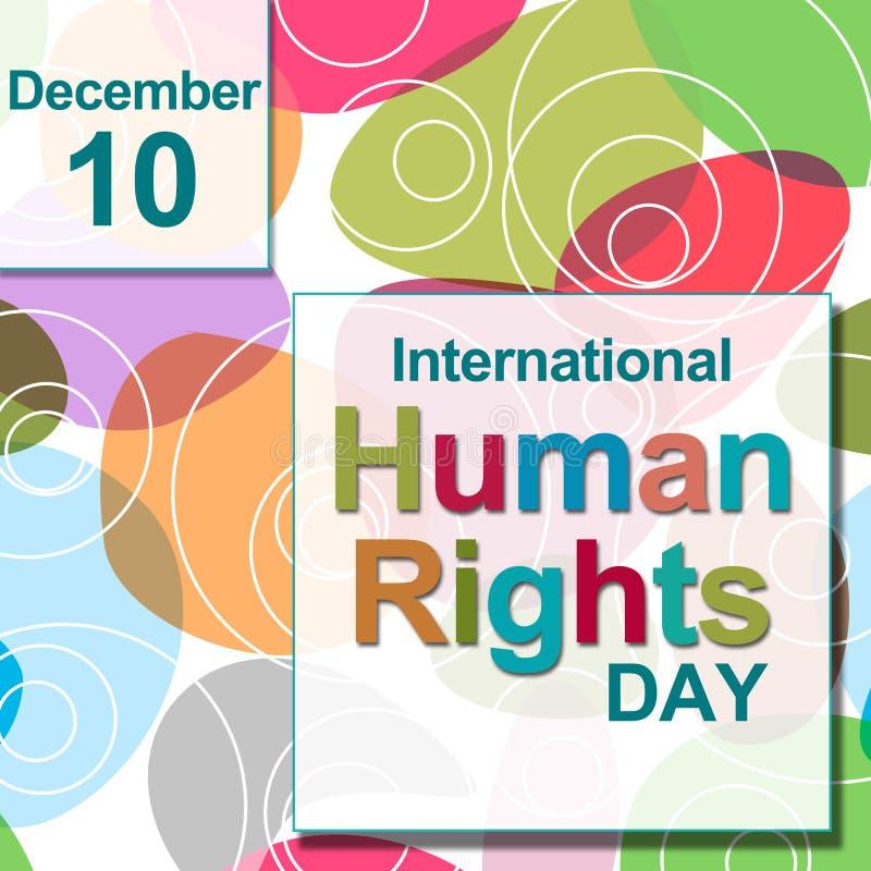 国际人权日五颜六色的圈子 向量例证