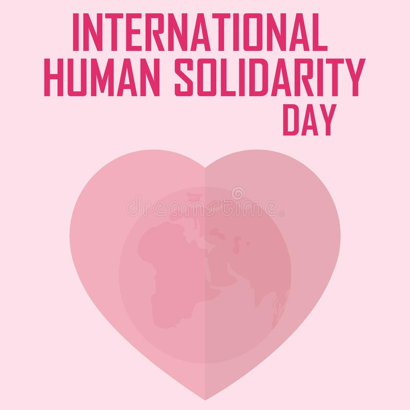 国际人的团结天 世界在心脏 库存例证