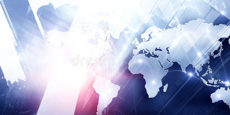 国际企业合作 混合画法 库存例证