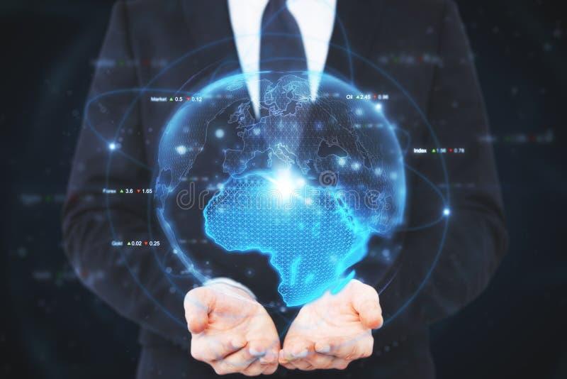 国际企业和科学概念 免版税库存图片
