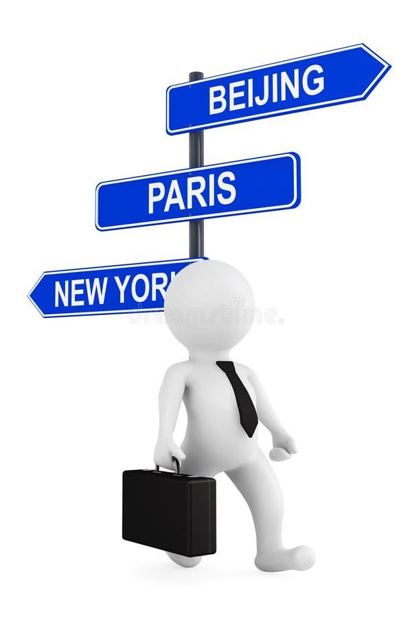 国际企业概念。与企业总数的商人 库存例证