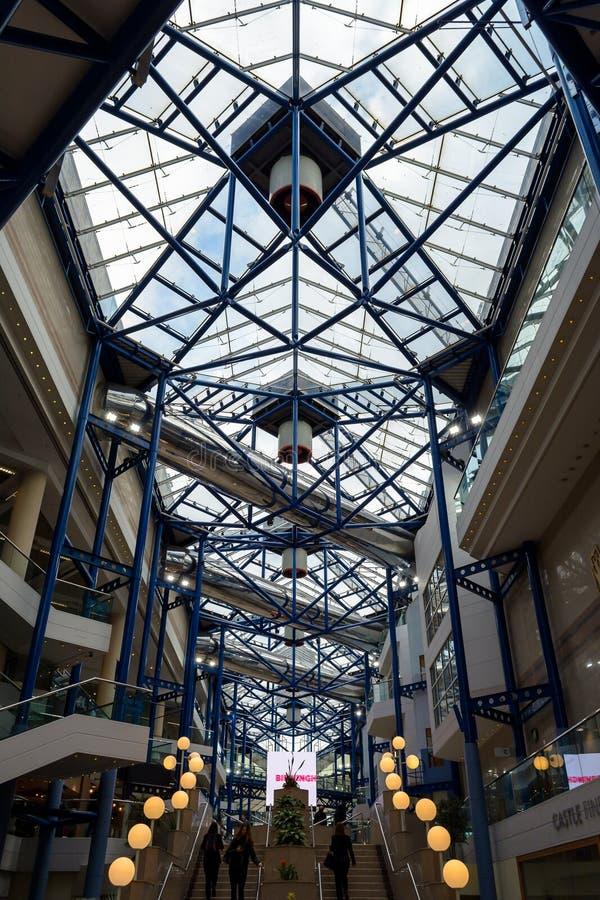 国际会议中心B伯明翰的内部 免版税库存图片