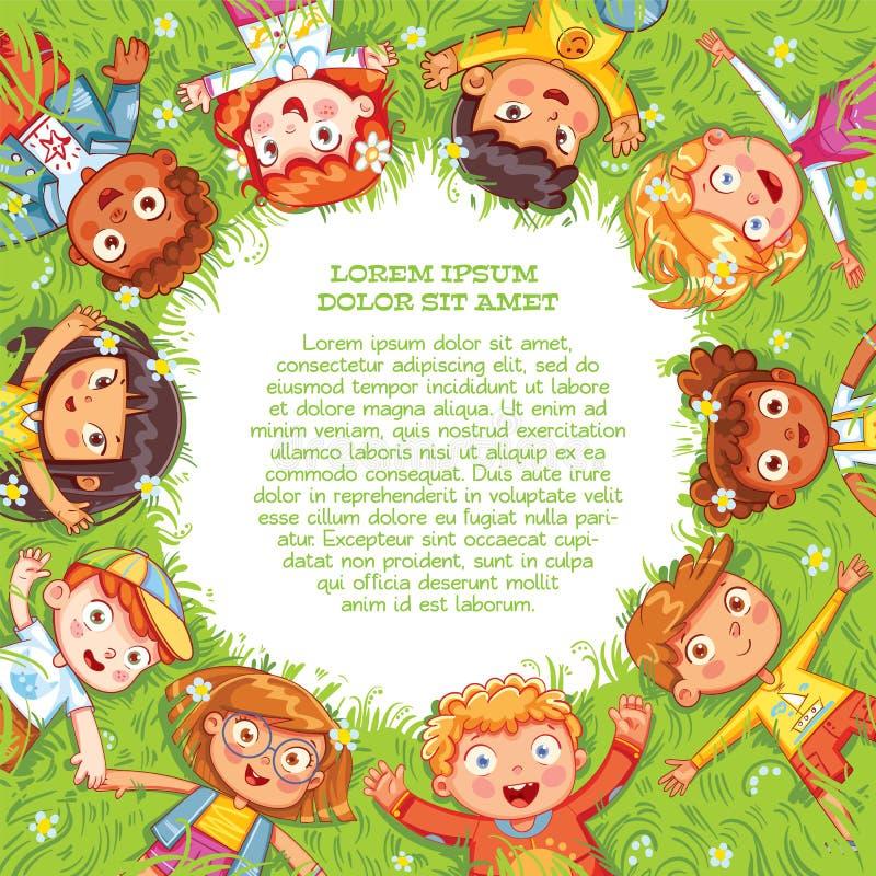 国际儿童节或世界地球日 向量例证