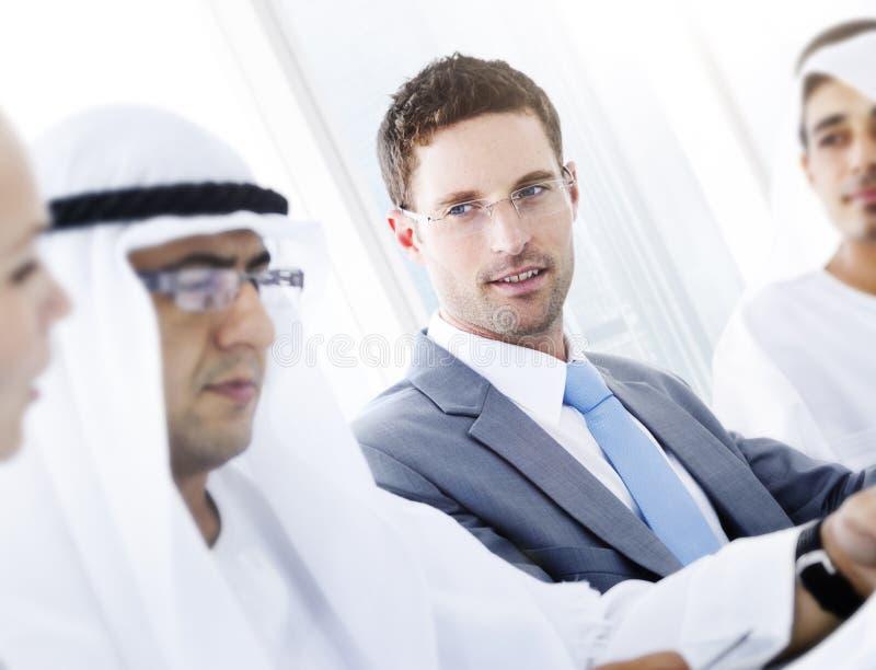 国际全球企业讨论合作概念 免版税库存照片
