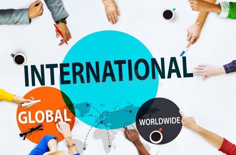 国际全球性公共全世界贸易的概念 图库摄影