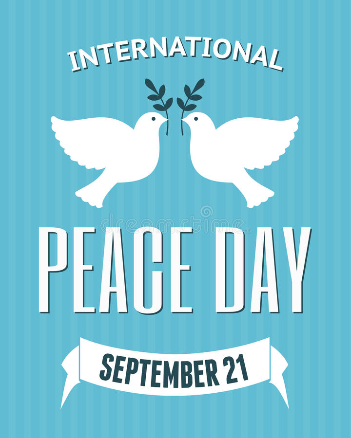 国际和平天海报 皇族释放例证