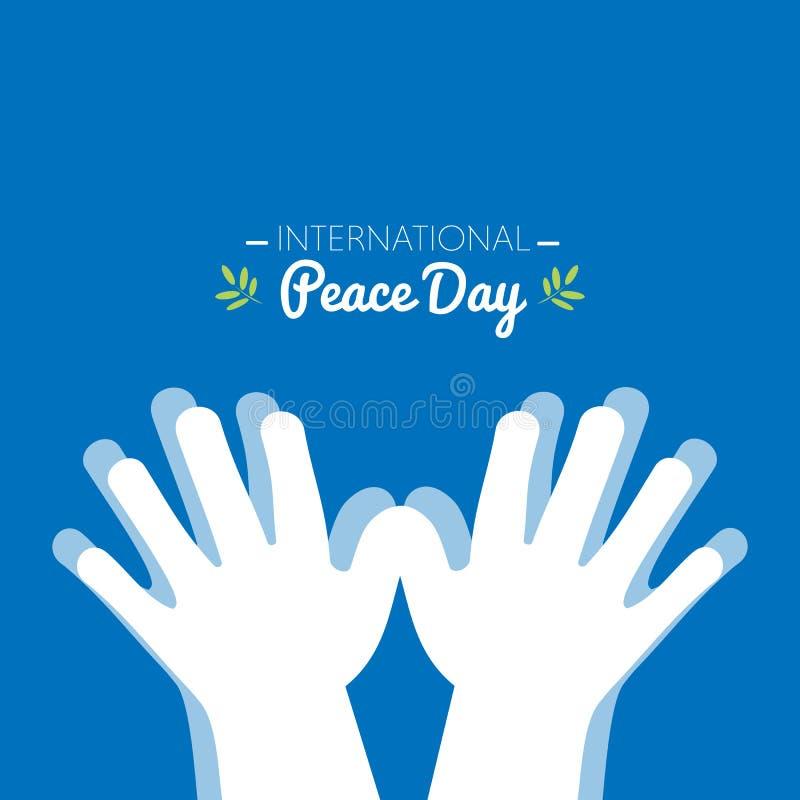 国际和平天用做形状的手鸠 皇族释放例证