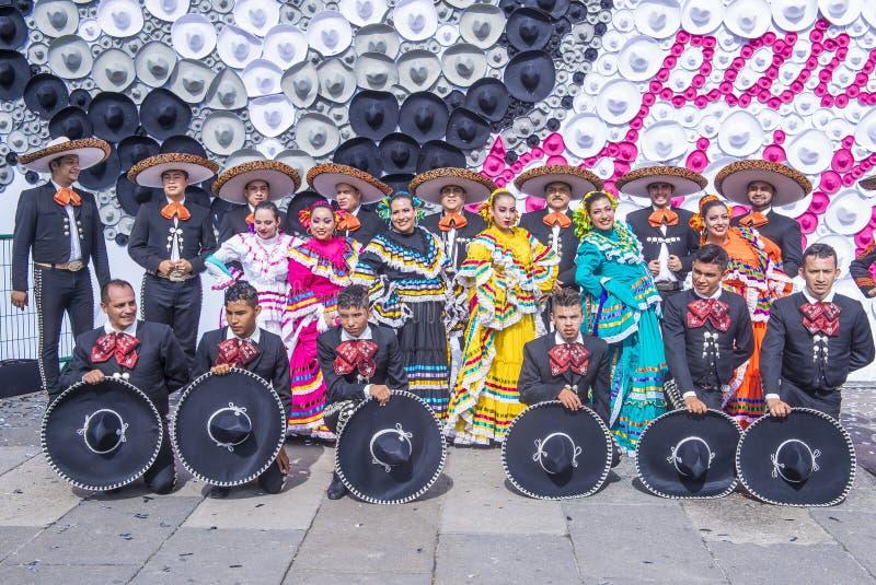国际墨西哥流浪乐队& Charros节日 图库摄影