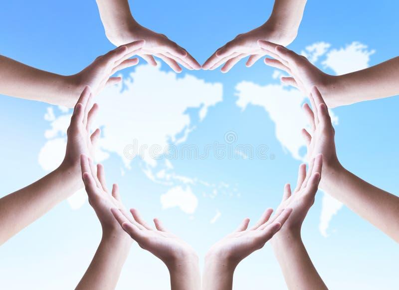 国际天合作社概念:平安的团结和合作 库存照片