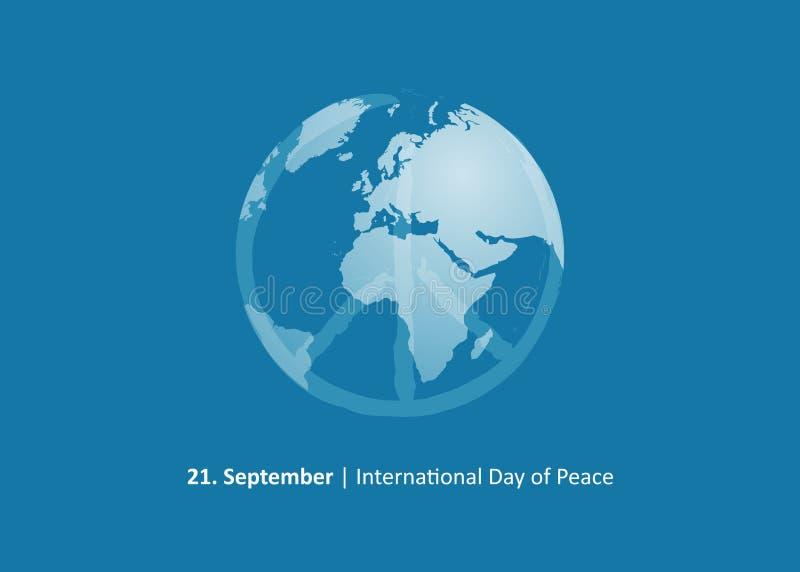 国际天和平9月21日 向量例证