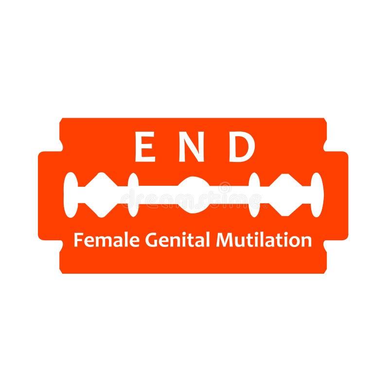 国际天对女性生殖切断的忍无可忍 皇族释放例证
