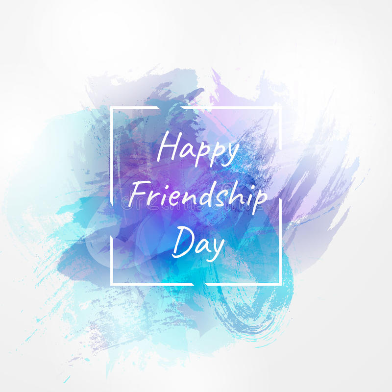 国际天的传染媒介例证友谊 愉快日的友谊 设计海报的,横幅, flayer模板 库存例证