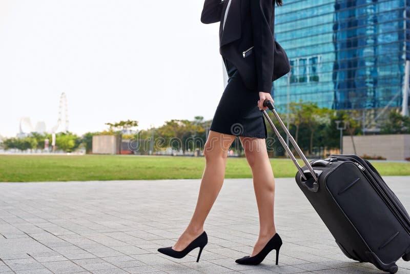 国际女实业家旅行家 免版税库存照片