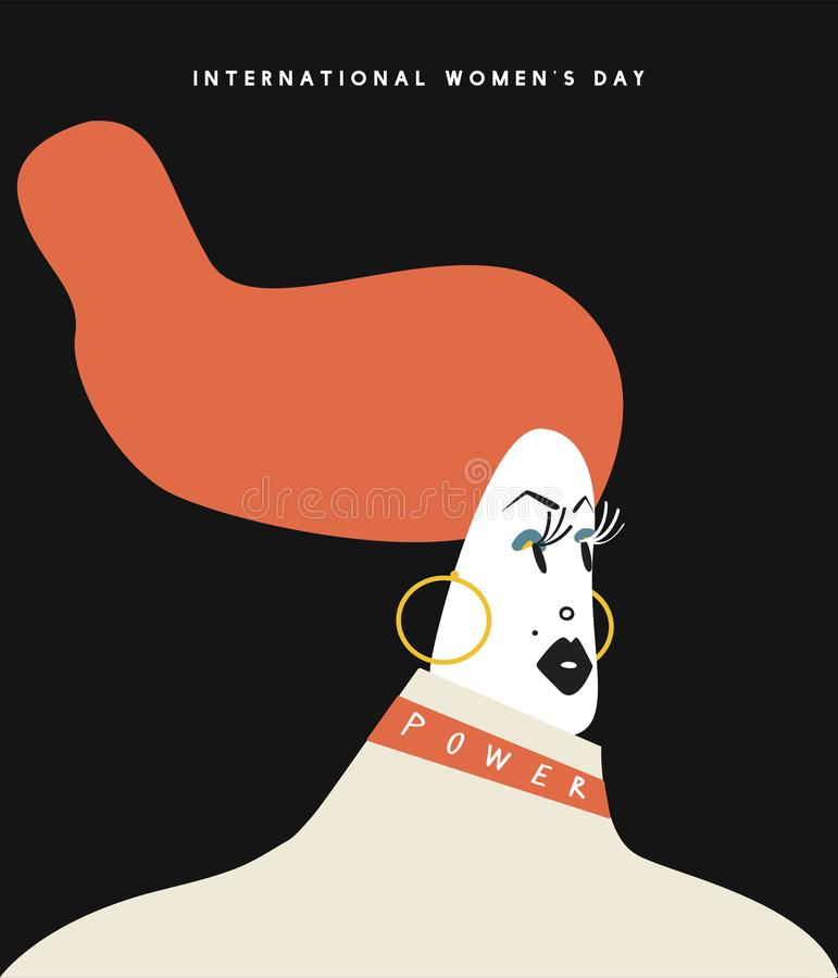 国际妇女` s天概念例证 皇族释放例证