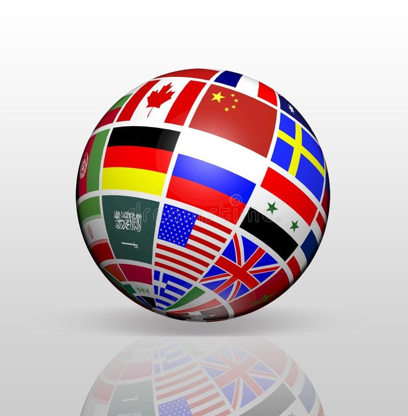 国际性组织下垂地球 库存例证