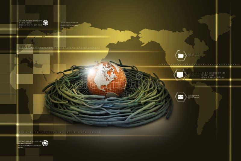 国际投资和全球性财务 皇族释放例证