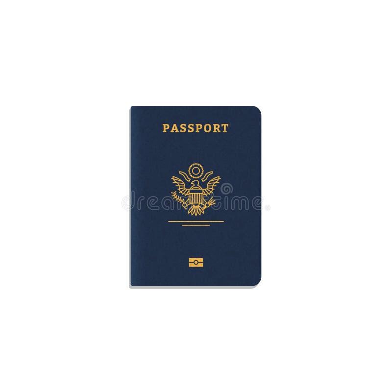 国际护照盖子 皇族释放例证