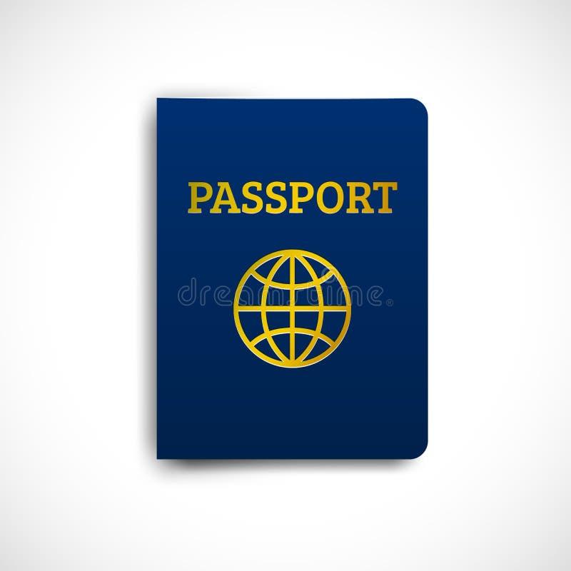 国际护照蓝色盖子 向量例证