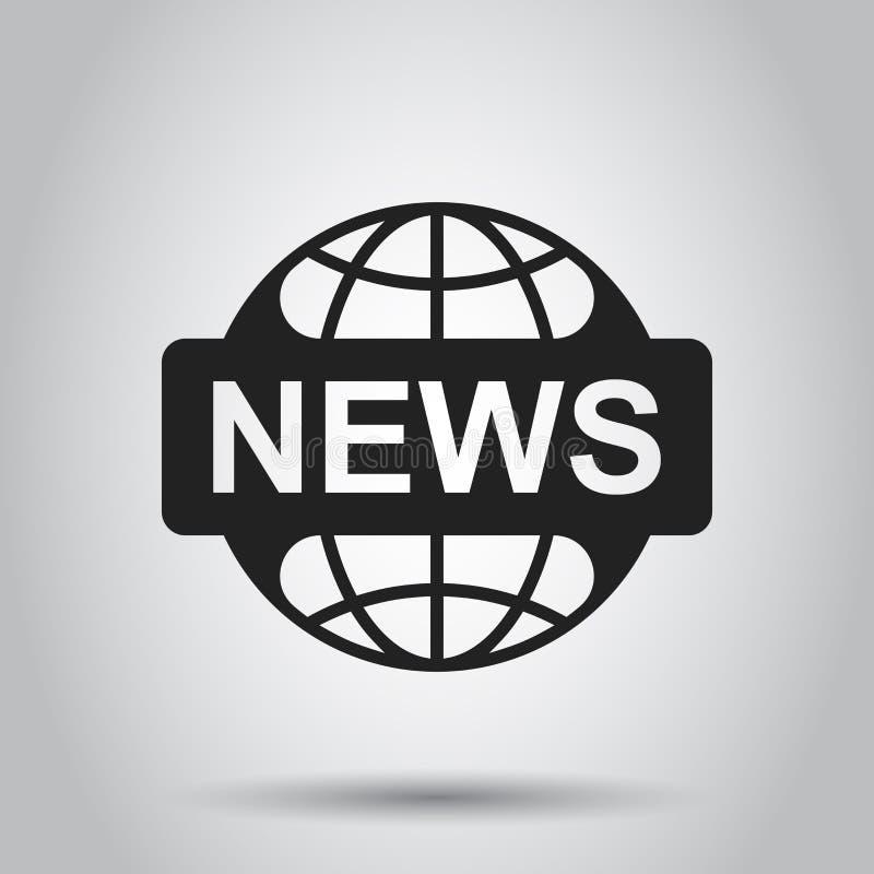 国际新闻平的传染媒介象 新闻标志商标例证 Busi 库存例证