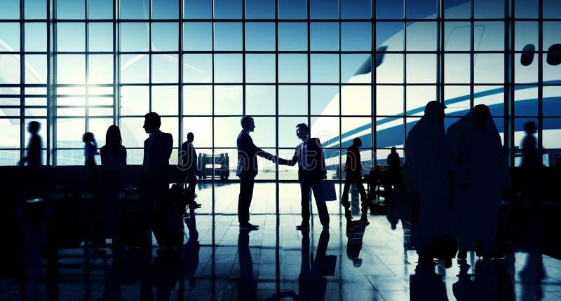 国际机场商务旅游机场终端概念 免版税库存图片