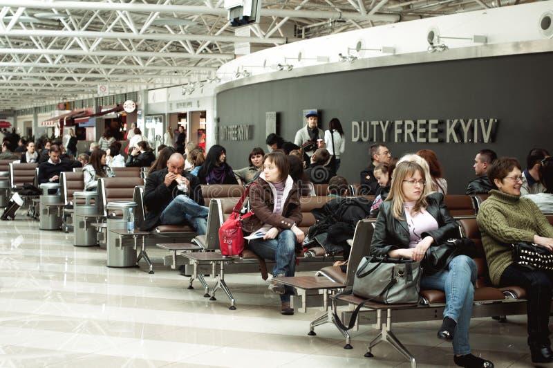 国际机场基辅鲍里斯皮尔,乌克兰 终端F 图库摄影