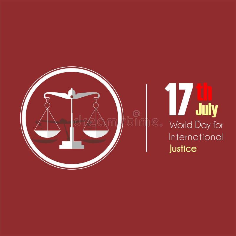 国际正义的世界天 库存例证