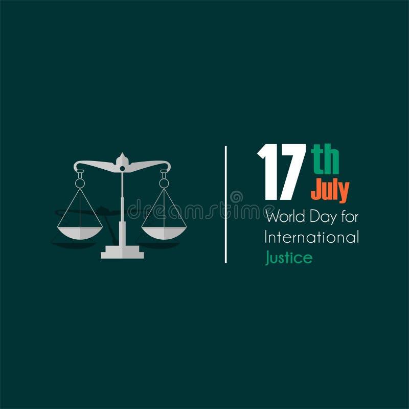 国际正义的世界天 向量例证