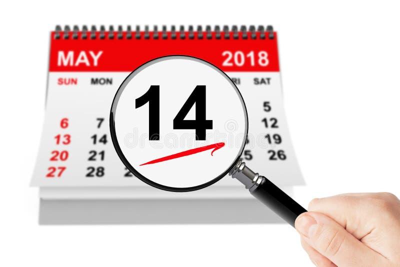 国际母亲节概念 13可以2018与ma的日历 库存例证