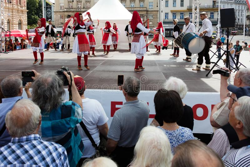 国际民间传说节日在萨格勒布,克罗地亚 免版税库存照片
