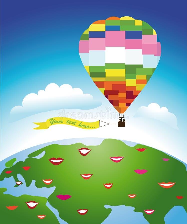 国际气球飞行 向量例证