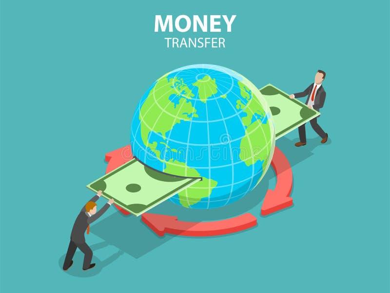 国际汇款等量平的传染媒介概念 向量例证