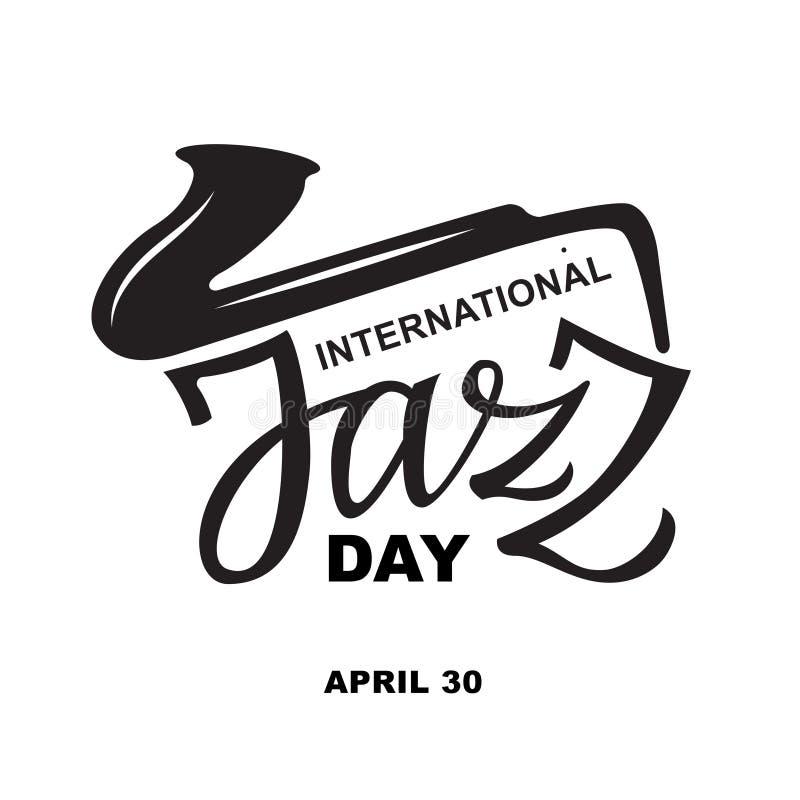 国际爵士乐天- 4月30日文本印刷术 皇族释放例证