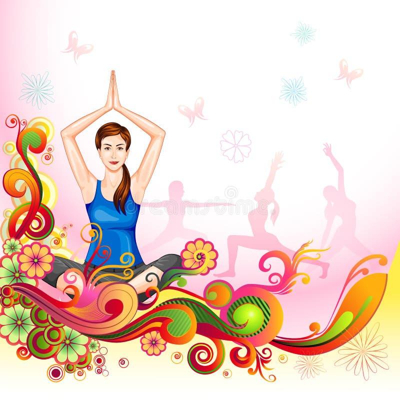 国际瑜伽天 皇族释放例证