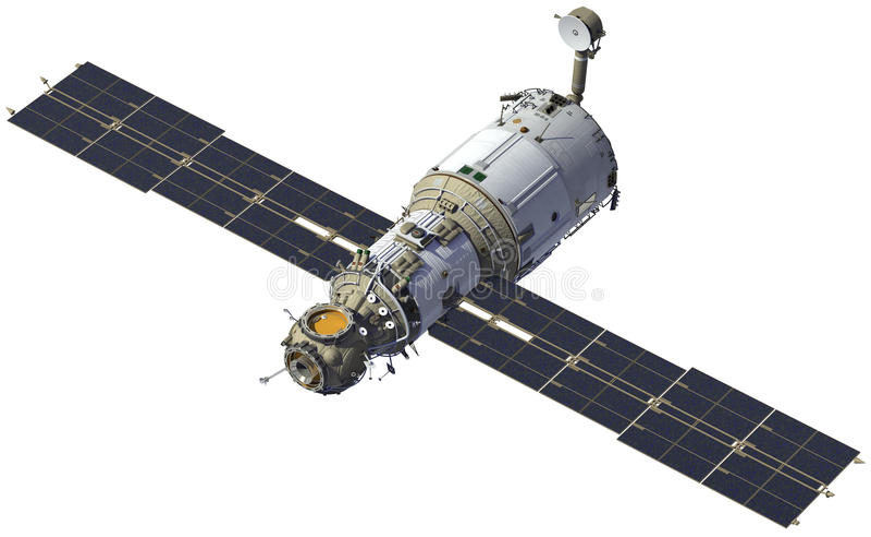 国际空间站 模块星辰号 库存例证