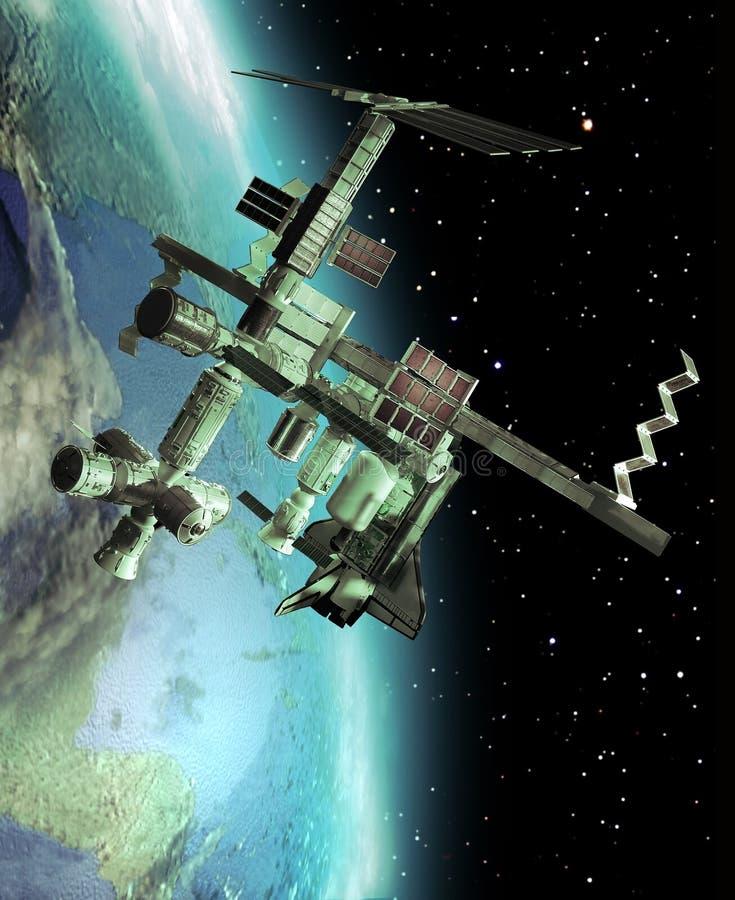国际空间站 向量例证