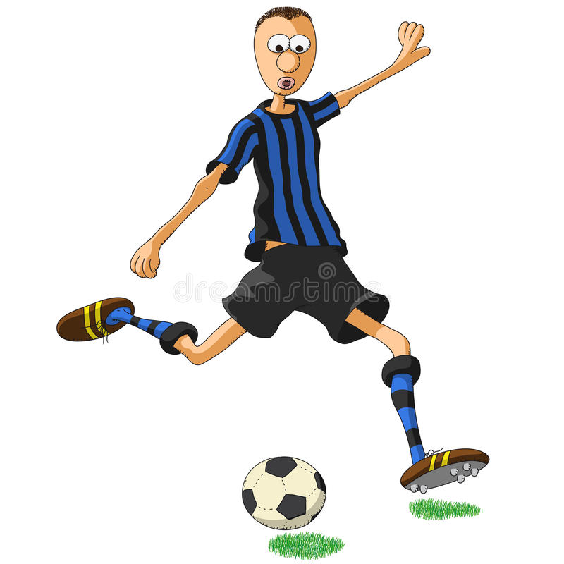 国际米兰队足球运动员 向量例证