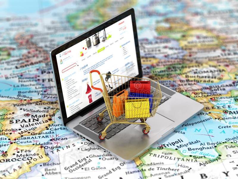 国际网上购物 免版税库存照片