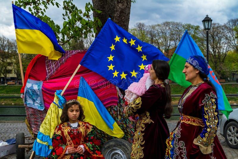 国际罗马天在乌日霍罗德庆祝了 图库摄影