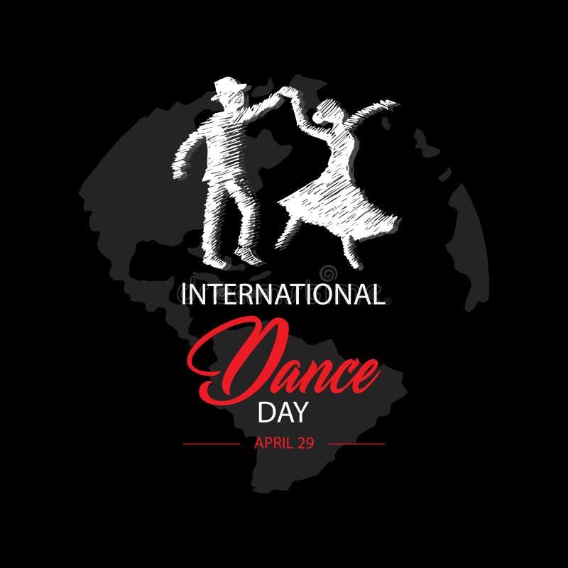 国际舞蹈天 4月29日 库存例证