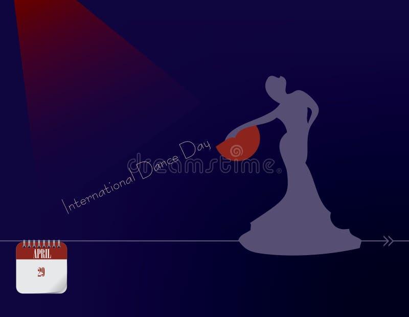 国际舞蹈天 库存例证