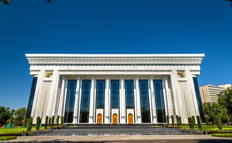 国际论坛& x27宫殿; Uzbekistan& x27;在贵族Temur广场在塔什干 免版税图库摄影