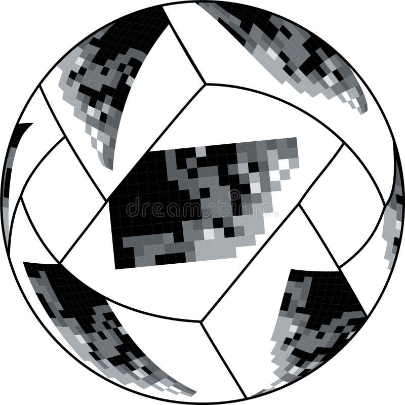国际足球联合会俄国人世界杯球传染媒介 库存例证