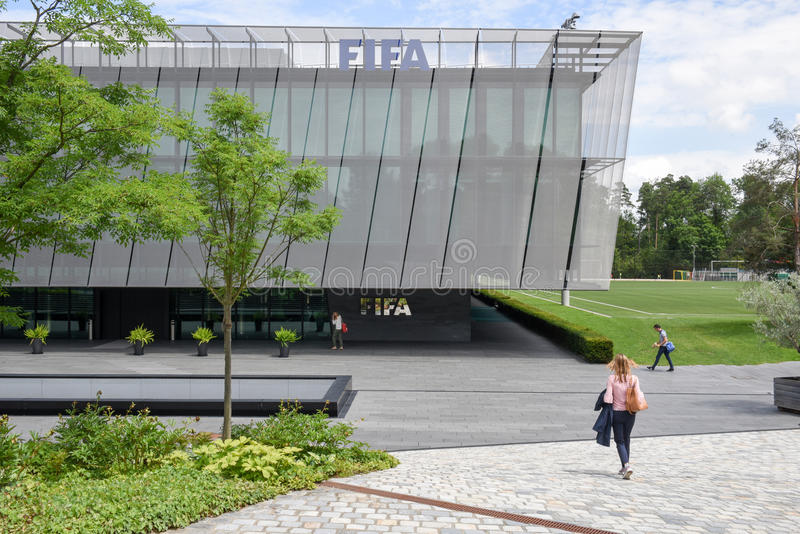 国际足球联合会的总部在瑞士的苏黎世 免版税图库摄影