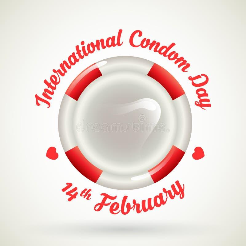 国际避孕套天 皇族释放例证