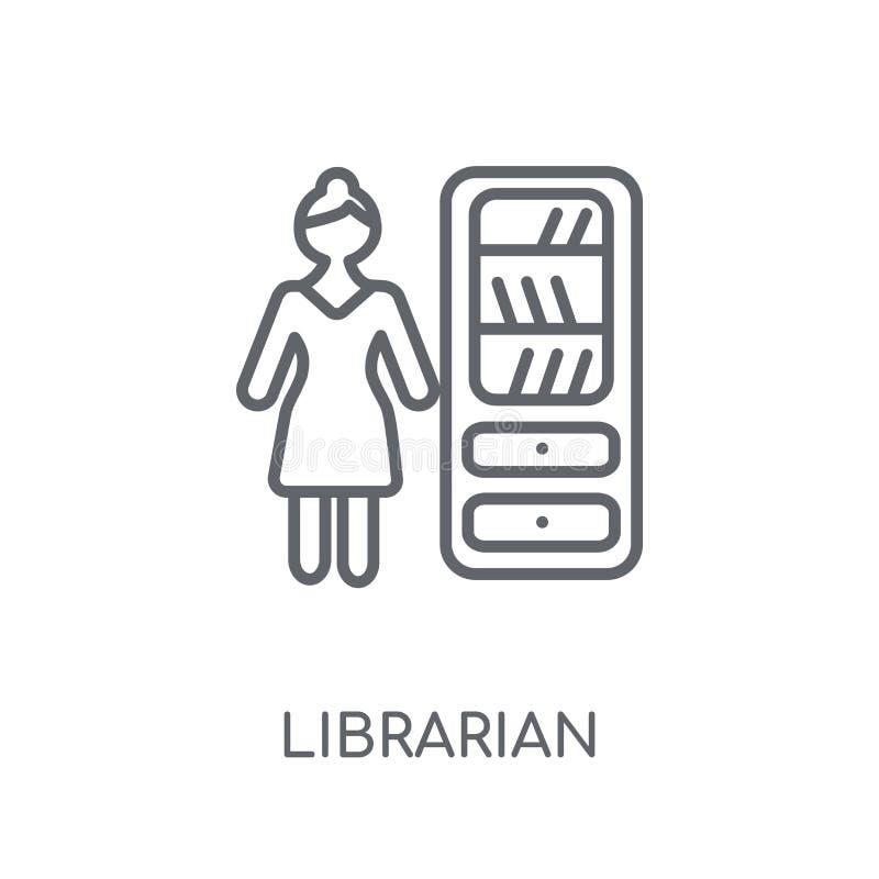图书管理员线性象 现代概述图书管理员商标概念 皇族释放例证