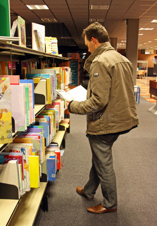 图书馆人 库存图片