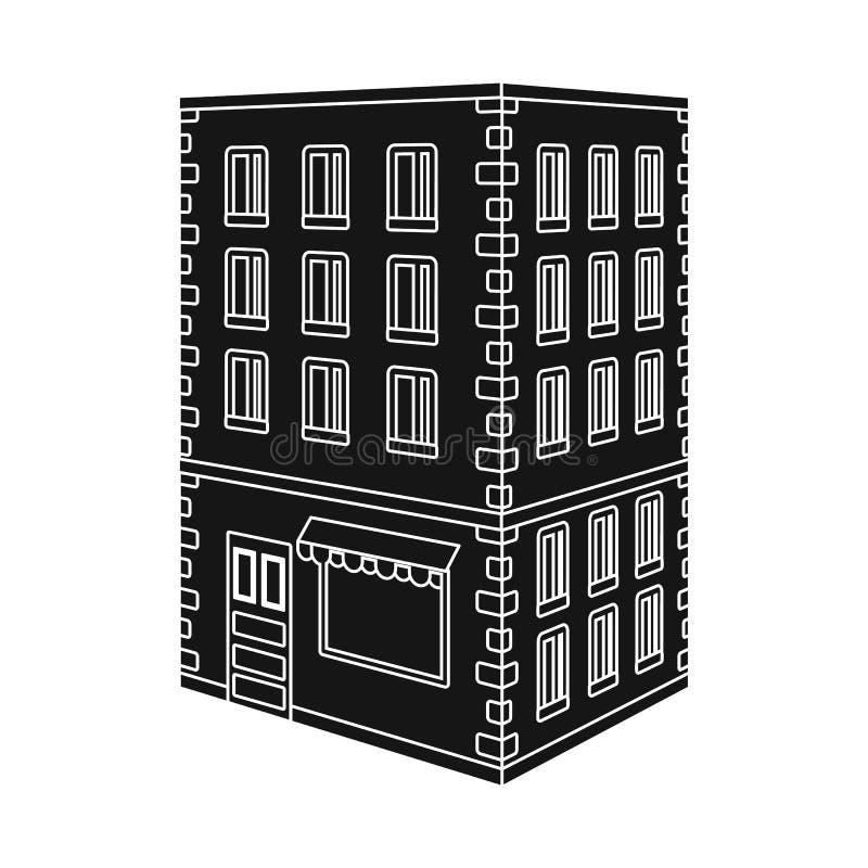 图书馆和房子标志被隔绝的对象  设置图书馆和银行股传染媒介例证 皇族释放例证
