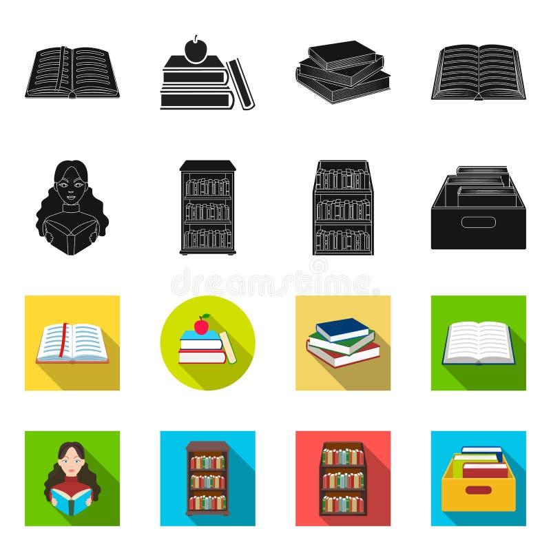 图书馆和课本商标传染媒介设计  设置图书馆和学校储蓄传染媒介例证 皇族释放例证