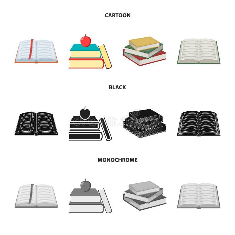 图书馆和课本商标的传染媒介例证 图书馆和学校储蓄传染媒介例证的汇集 库存例证